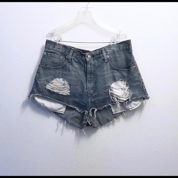 Levi's Pants - Levi's Distressed Cut Off Denim Shorts